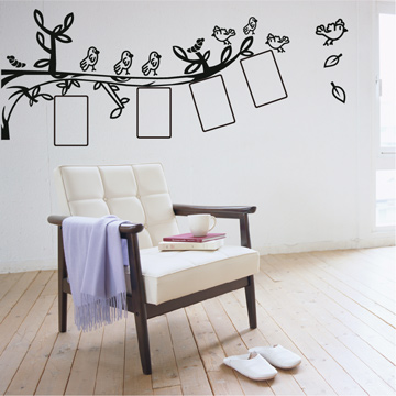 Smart Design 創意無痕壁貼◆鳥兒相框 8色可選