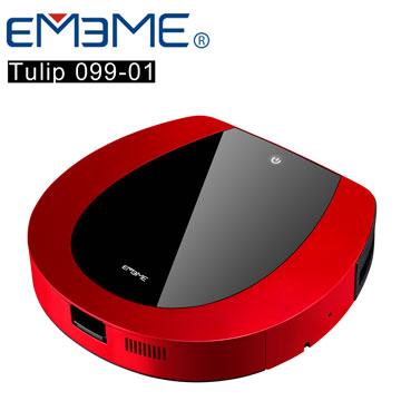 <限時激殺價>【EMEME】掃地機器人吸塵器 Tulip99 (罌粟紅)《加贈耗材3件組》