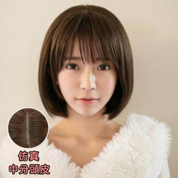 【MB209】韓系 稀疏薄瀏海 耐熱高仿真BOBO短髮(加大頭皮)