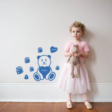 【Smart Design】創意無痕壁貼◆禮物熊 8色可選