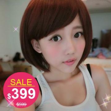 【MB203】玉米鬚X直混搭MIX紅棕短髮