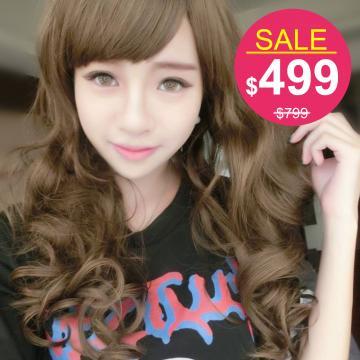 【742B】娃娃頭愛戀甜心芭比捲髮中長捲髮