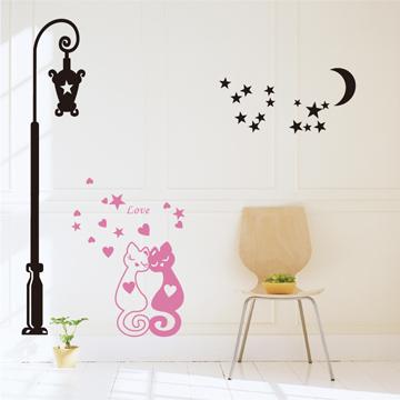 【Smart Design】創意無痕壁貼◆LOVE貓咪 8色可選
