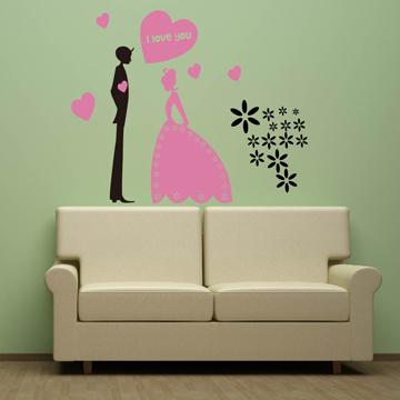 【Smart Design】創意無痕壁貼◆婚禮 8色可選