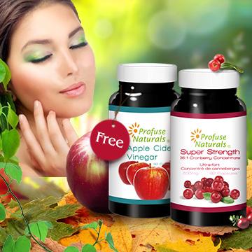【加拿大優沛康】36倍蔓越莓500mg濃縮膠囊-送蘋果醋500mg膠囊(正貨)