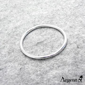 【ARGENT安爵銀飾精品】手環系列「圓弧形(可開)」純銀手環 (素面可加購刻字) 按鈕開口封閉式造型