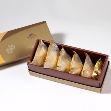 漢坊【御點】綜合6入禮盒★鳳梨酥*1+蛋黃酥*1+漢坊金沙小月*1+綠豆椪*1+純綠豆椪*1+金韻蛋黃酥*1