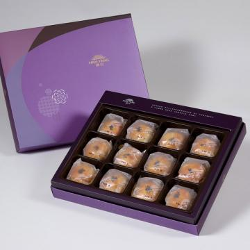 漢坊【臻饌】金韻蛋黃酥12入禮盒(蛋奶素)