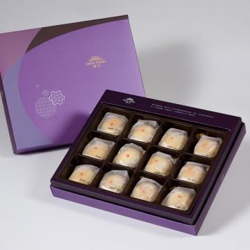 漢坊【臻饌】綠豆小月餅12入禮盒(蛋奶素)