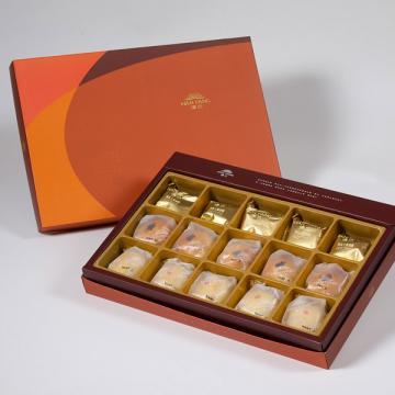 漢坊【御藏】綜合15入禮盒★土鳳梨酥*5+金韻蛋黃酥*5+綠豆小月餅*5(蛋奶素)