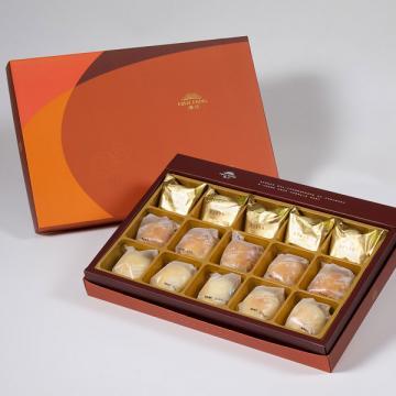 漢坊【御藏】綜合15入禮盒★鳳梨酥*5+蛋黃酥*5+漢坊金沙小月*5(蛋奶素)