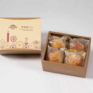 漢坊【典藏】蛋黃酥4入禮盒(蛋奶素)
