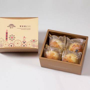 漢坊~典藏~金韻蛋黃酥4入 (蛋奶素)