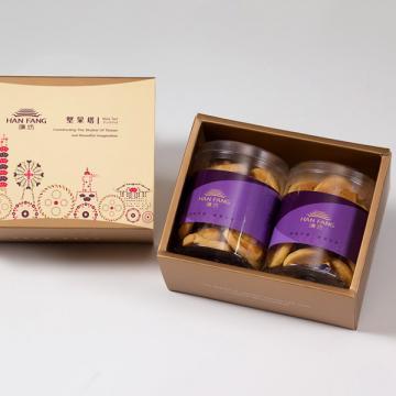 漢坊【典藏】原味杏仁手工餅乾2入禮盒(蛋奶素)