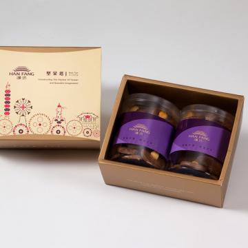 漢坊【典藏】杏仁巧克力手工餅乾 2入禮盒(蛋奶素)