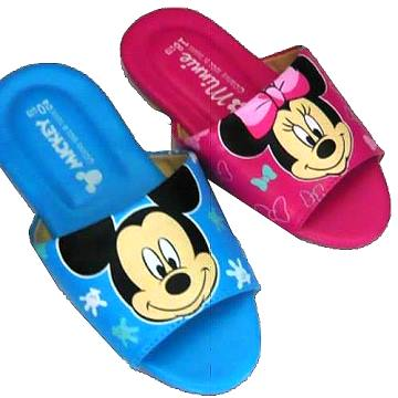 (e鞋院)★童鞋會★ 【可愛米奇】兒童室內皮拖鞋