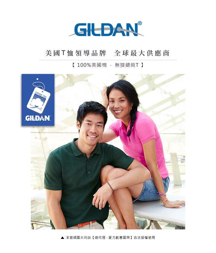 GILDAN 總代理-100%美國棉  亞規純棉POLO衫(2件)