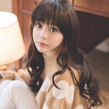 【742A】整頂式-甜美女孩波浪捲髮