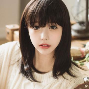 【A013】韓系輕萌感斜碎瀏海短直髮