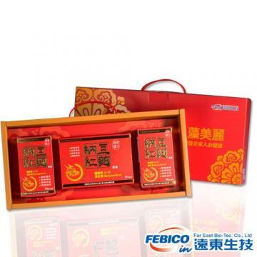 遠東生技 循環順暢禮盒(納豆紅麴膠囊90顆*2瓶+30顆*1盒)