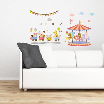 Smart Life創意無痕壁貼◆旋轉木馬