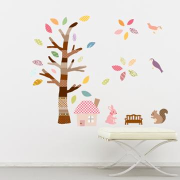 Smart Life創意無痕壁貼◆彩色樹