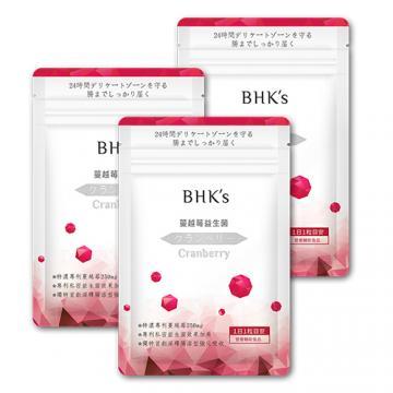 BHK's-紅萃蔓越莓益生菌(30顆/包)3包組