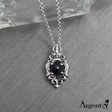 【ARGENT銀飾】天然石系列「皇冠翼蝶(堇青石)」純銀項鍊