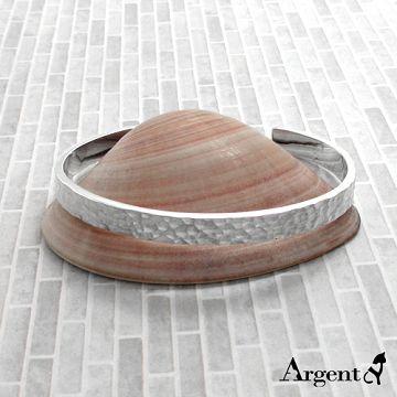 【ARGENT銀飾】手環系列「甜蜜烙印(敲打手環)(細6mm)」純銀手環