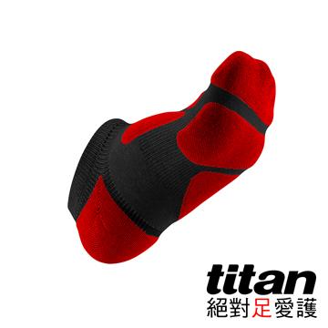 Titan功能慢跑踝襪-[黑/紅]