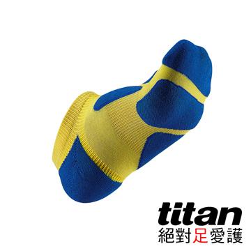 Titan功能慢跑踝襪-[黃/藍]