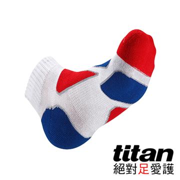 Titan功能慢跑襪-[白/紅/藍]
