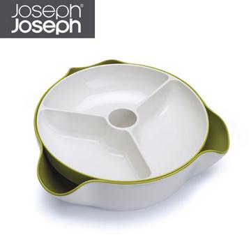 《Joseph Joseph英國創意餐廚》★ 好方便雙層點心碗(綠白)★70073