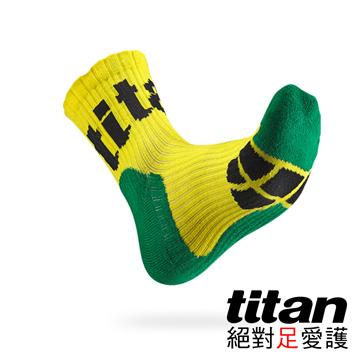 Titan側向運動襪[黃/綠/黑]