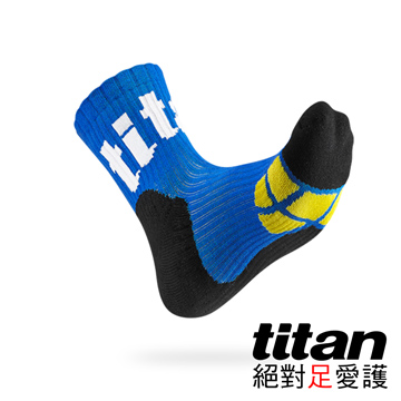 Titan側向運動襪[藍/黑/黃]