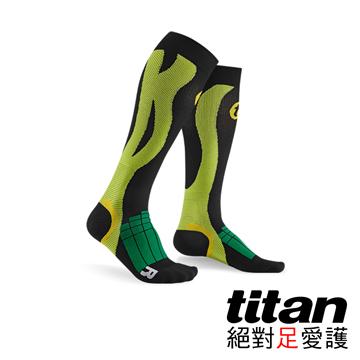 Titan壓力運動襪-Elite[黑/綠]