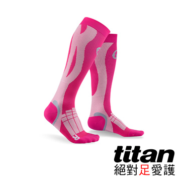 Titan壓力運動襪-Elite[桃紅/粉紅]