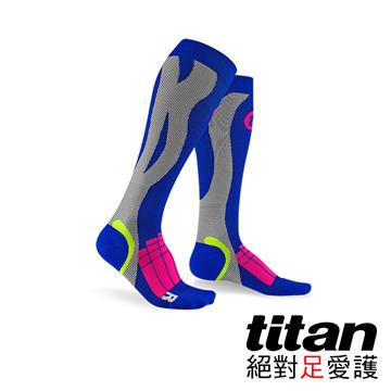 Titan壓力運動襪-Elite[寶藍/淺灰]