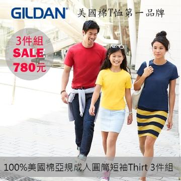 GILDAN 總代理-100%美國棉~亞規成人短袖素面Thirt -聖誕禮物(3件)