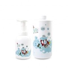 【Baby專用】天然木酢艾草泡泡浴露1公升補充瓶.搭贈1個340ml泡沫噴瓶【#28202】