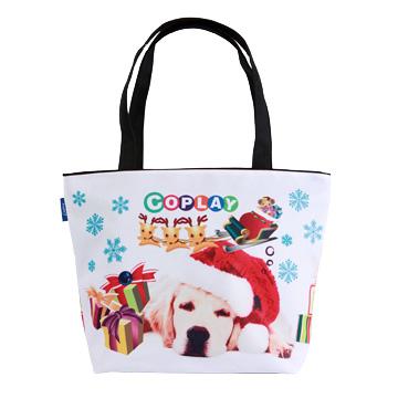 【Coplay設計包】黃金陪我過聖誕|托特包(黑色手把)