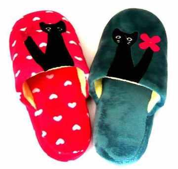 (e鞋院) 寵愛貓咪舒適室內拖鞋 ~親子拖~