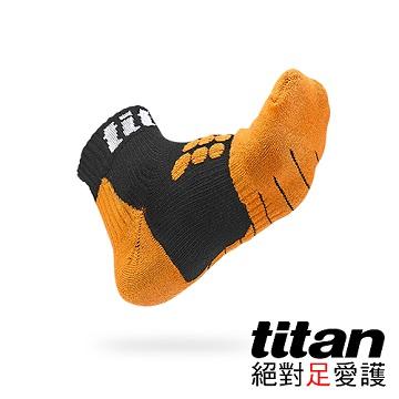 【Titan】全方位球類運動襪[黑/橘]