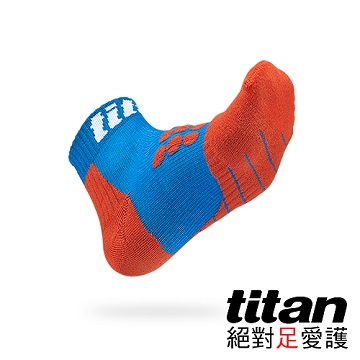 【Titan】全方位球類運動襪[藍/紅]
