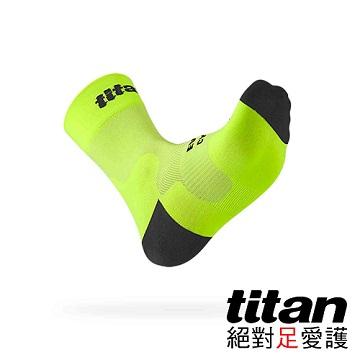 Titan 自行車襪 Race [亮黃]-F