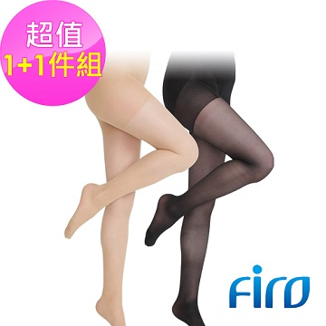 《Firo》120D高跟鞋款褲襪-膚+黑色(各1雙入)