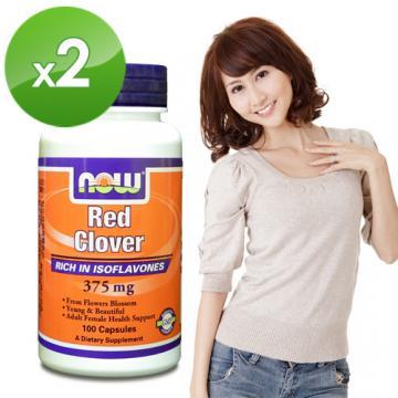 NOW健而婷-紅花苜蓿-頂級植物異黃酮(100顆/瓶)2瓶組