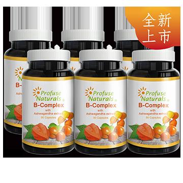 優沛康【沛然ProfuseNaturals】沛康南非醉茄+B群綜合膠囊(90顆/瓶)6入組