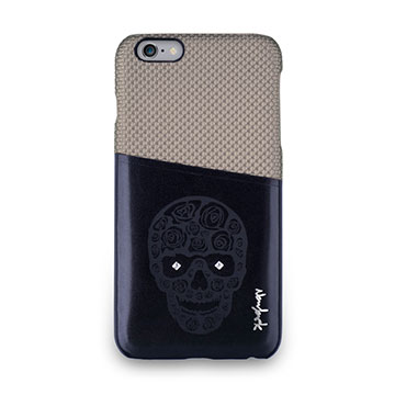 iPhone 6s Plus -魅影系列雙色卡夾保護背蓋-可可棕
