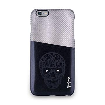 iPhone 6s Plus -魅影系列雙色卡夾保護背蓋-卡其灰